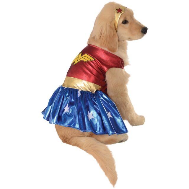 Wonder Woman Pet Costume Dog Superhero Halloween Fancy Dress  sc 1 st  eBay & Rubieu0027s Big Dog Wonder Woman Costume Costumes Supplies Pet | eBay