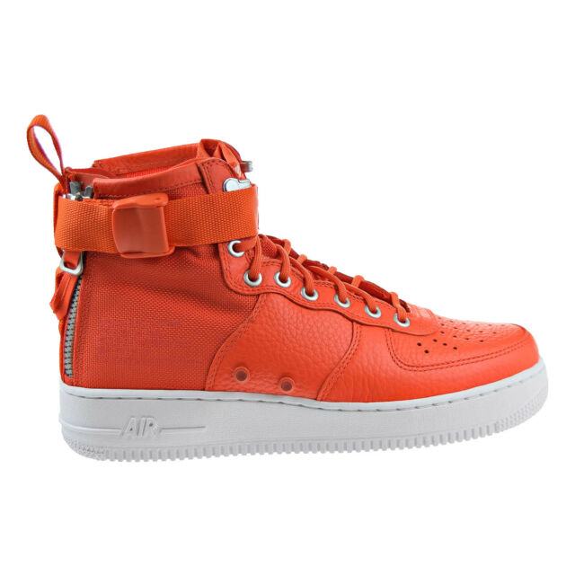 Nike SF Air Force 1 Mid Men's Lifestyle Shoes Orange/White bK3249L