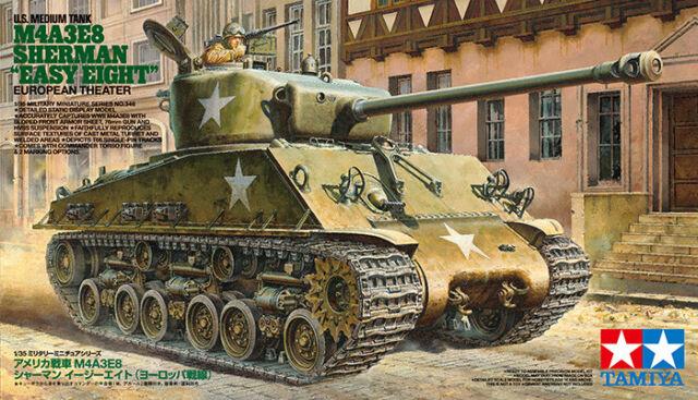 TAMIYA 35346 - 1/35 WWII US M4A3E8 SHERMAN EASY EIGHT - EUROPEAN THEATER - NEU