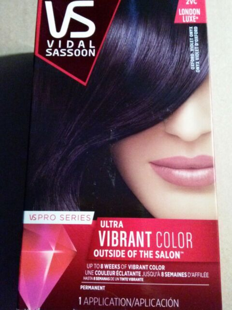 3 Vidal Sassoon 2vc London Luxe Oxford Violet Onyx Permanent Hair