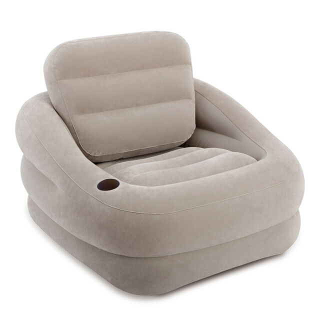 intex inflatable furniture. Intex Inflatable Khaki Accent Chair With Cup Holder And Water Base | 68587EP EBay Furniture T