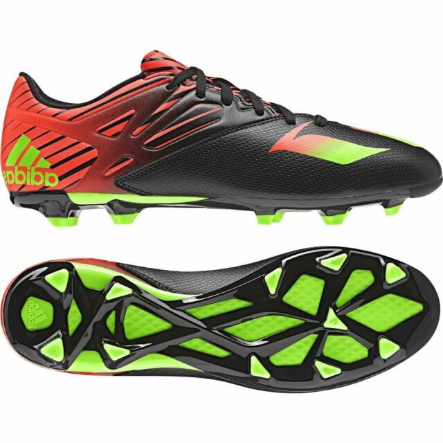adidas F 15.3 TRX FG / AG Messi 2015 Soccer Shoes Black - Red - Green