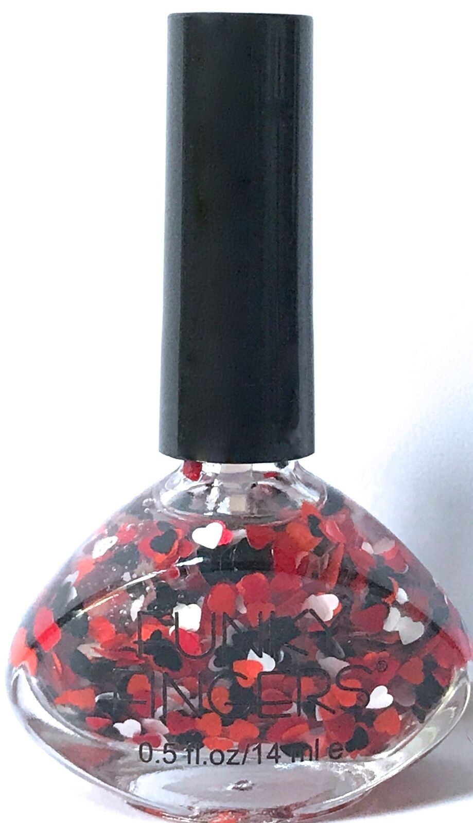 Funky Fingers Nail Polish Queen of Hearts Red White Black Heart ...