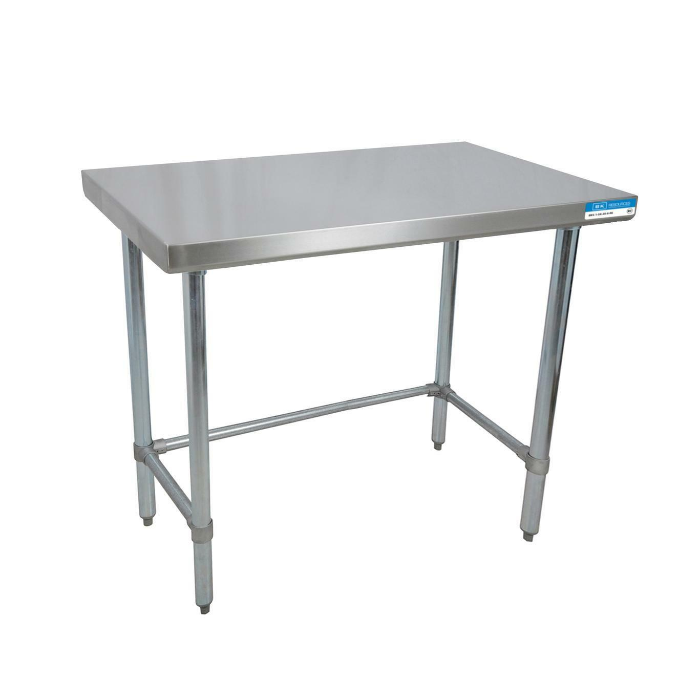 Bk Resources W X D Gauge Stainless Steel Open Base Work - 16 gauge stainless steel work table