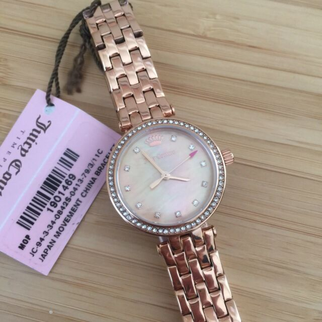 Juicy Couture Watch Cali Rose Gold Ladies 1901469 eBay