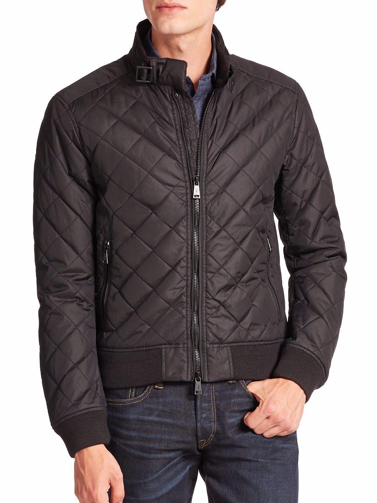 Polo Ralph Lauren Men's Quilted Moto Bomber Jacket Coat Black S | eBay : ralph lauren jacket quilted - Adamdwight.com