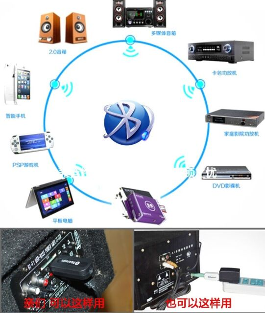 usb bluetooth wireless stereo audio music receiver. Black Bedroom Furniture Sets. Home Design Ideas