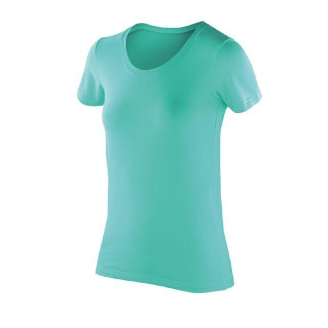 4f75025b Spiro Sports Womens Impact Softex Stretch T Shirt Top 7 Cols 6 to 18 ...