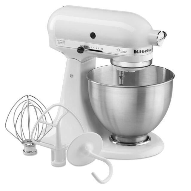 KitchenAid 5K45SS Classic Küchenmaschinen, Weiß | eBay