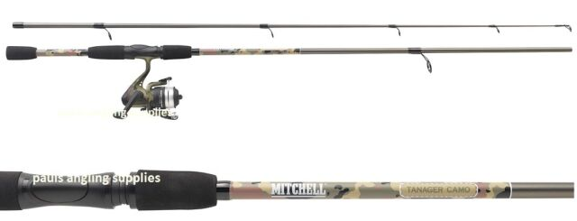 Mitchell tanager camo pattern 8ft spinning fishing rod for Mitchell fishing rod