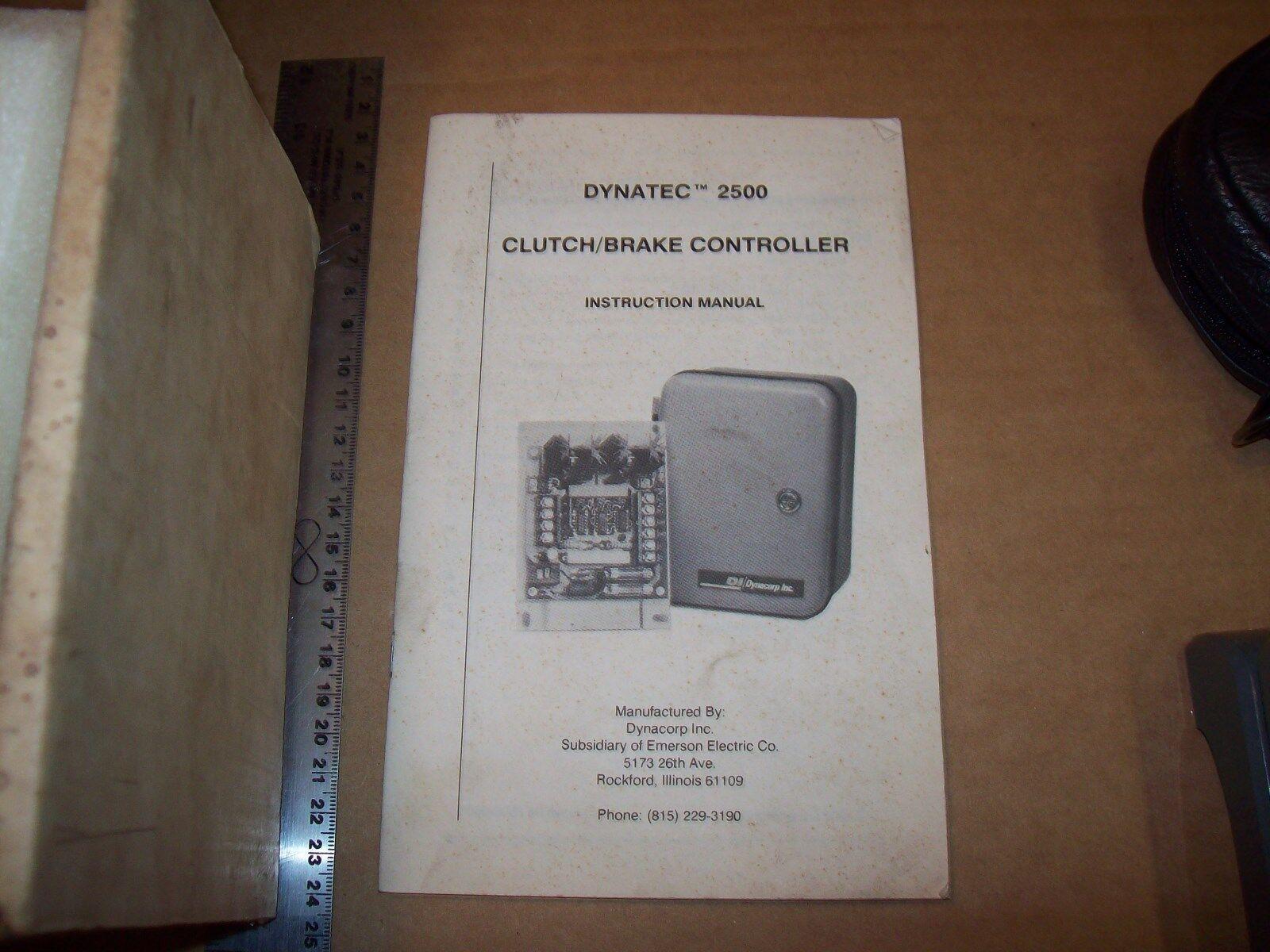 Model 2500 DYNACORP Dynatec Emerson ELEC 90vdc Clutch Brake Ctroller ...