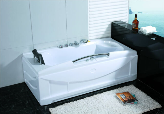 Whirlpool indoor  1 Person Jetted Whirlpool Hydrotherapy Massage Bathtub Indoor Hot ...