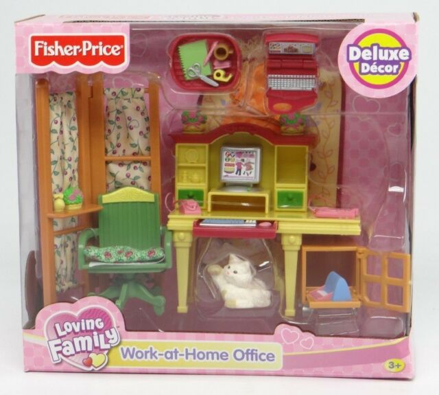 Dollhouse Furniture Discount Fisher Price Year Loving: Fisher Loving Family Dollhouse Furniture Work At Home