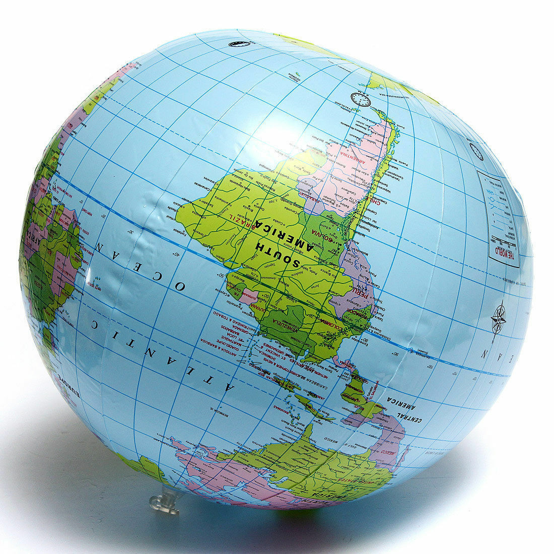 Inflatable Blow Up World Globe Cm Earth Atlas Ball Map Geography - Earth globe map