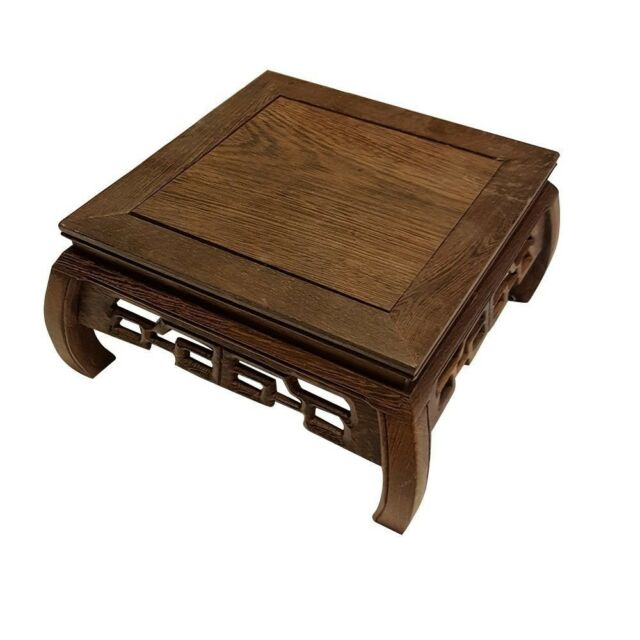 Hand Craft Rosewood Oriental Vase Stand Square 75 Ebay
