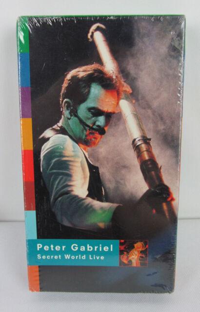 NEW Secret World Live by Peter Gabriel (VHS, 1994) Geffen Factory Sealed