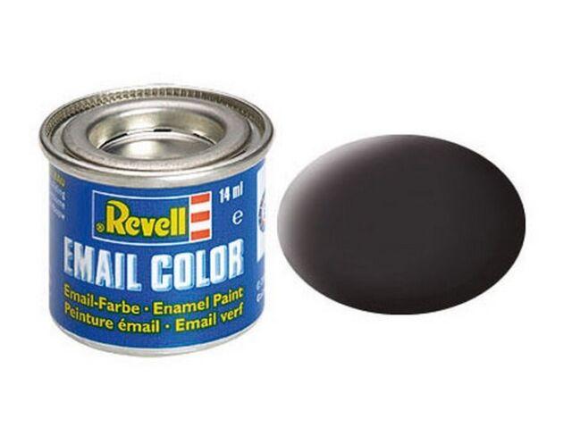 Revell 32106 - (14,21€/100Ml) Email Farbe - Teerschwarz Matt - 14Ml