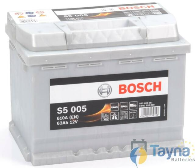 Type 027 Car Battery 610CCA Bosch 12V 63Ah Sealed OEM Replacement 5 Years Wty