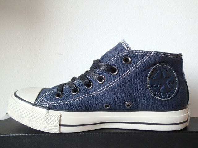 CONVERSE ALL STAR CLEAN MID BLU SCURO 131071C scarpe sneakers unisex