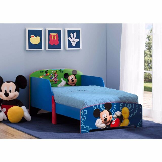 disney bedroom furniture delta children interactive wood toddler bed disney mickey 11438