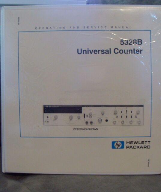 hp agilent 5328b universal counter operating and service manual ebay rh ebay com hp agilent 34401a service manual hp agilent 8656a manual