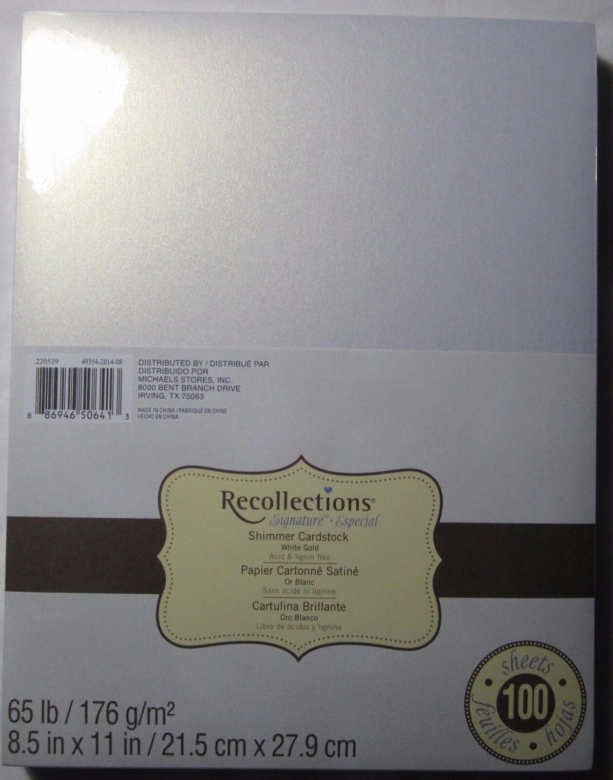 Gold color cardstock paper 5x7 - Picture 1 Of 10