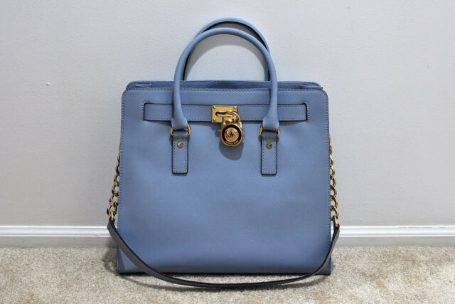 Nwt Michael Kors Hamilton Large North South Tote In Pale Blue Msrp 358