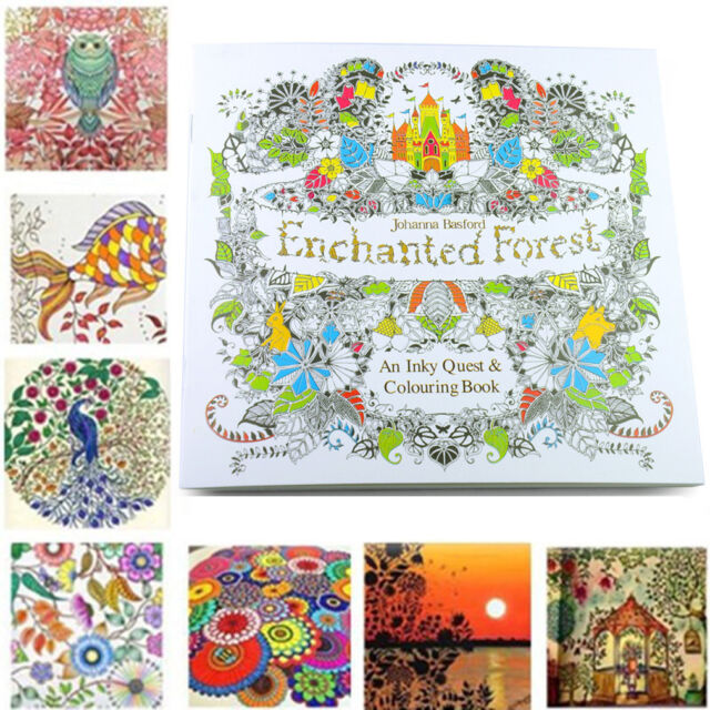 C6 US New Children Adult Enchanted Forest English Version Drawing Coloring Book