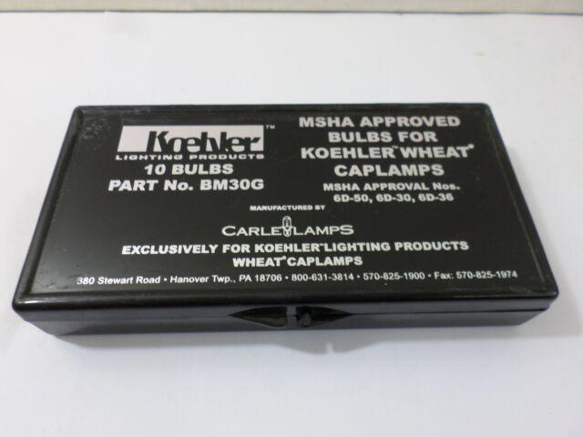 New Surplus Koehler BM30G 10 Bulbs Carle L&s & Bulbs Pack Koehler 10 Caplamps BM30G Wheat | eBay
