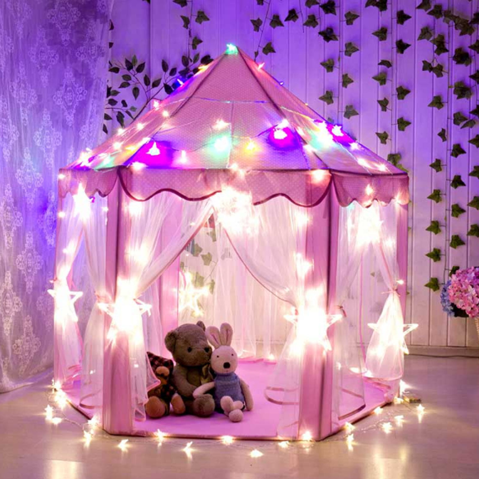 Princess Castle Play House Large Indoor/Outdoor Kids Play Tent for Girls Pink  sc 1 st  eBay & Play Tent | eBay