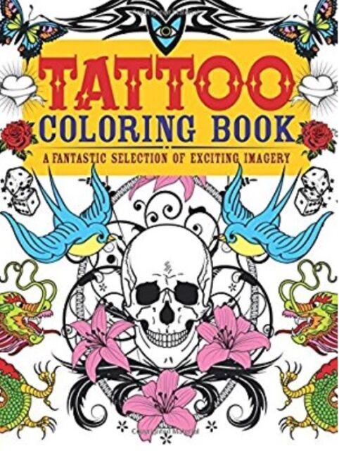 Chartwell Coloring Bks.: Tattoo Coloring Book : A Fantastic ...