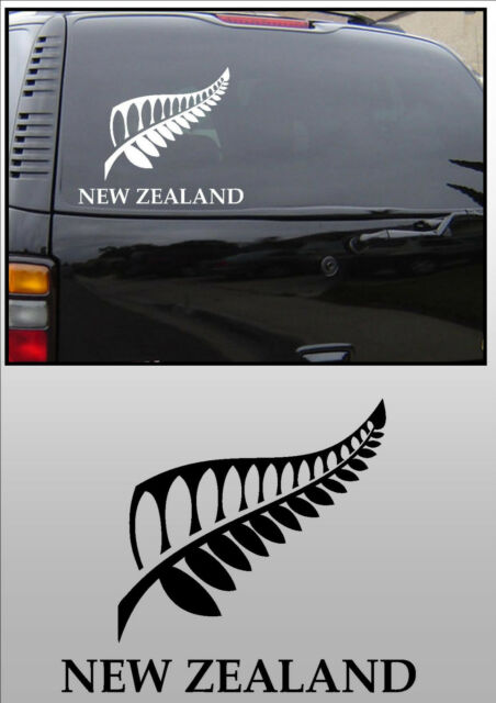 New zealand white kiwi fern car window sticker decal