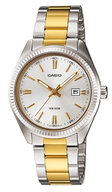 Casio LTP-1302SG-7A Orologi, Donna, Vetro Minerale,  Data, Batt. 3 Anni, Nuovo