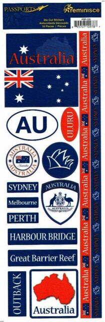 Reminisce Australia Quote Sydney Victoria Scrapbooking Stickers Rss