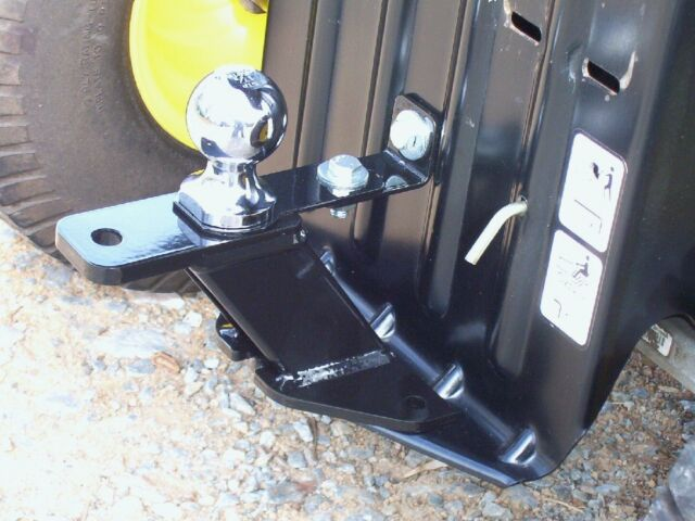 Lawn Tractor Hitch Receiver : Universal lawn garden tractor hitch with support brace kit