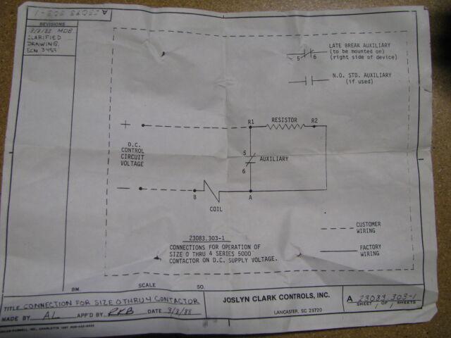 joslyn clark relay contactor 5003a5005 82 nsn 5945 01 415 7097 ebay rh ebay com Chevy Wiring Diagrams Clark Engines