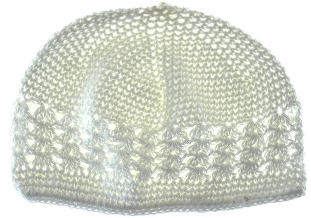 Kufi Hat Crochet Cap Beanie White Ebay