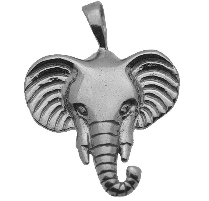Cool sterling silver 925 charm pendant elephant head symbol of picture 1 of 1 aloadofball Images