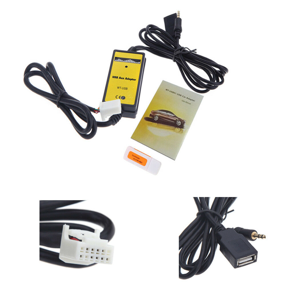 For toyota camry corolla rav4 sienna usb aux in adapter mp3 radio picture 1 of 8 sciox Choice Image