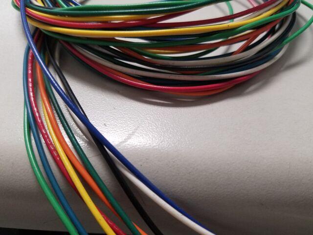 22 AWG Gauge Stranded Hook up Wire Kit 5 FT EA 9 Color Ul1007 300 ...