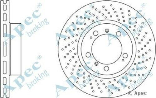 1x OE Quality Replacement Front Axle Apec Vented Brake Disc 5 Stud 318mm Single