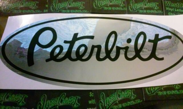 Peterbilt Chrome Vinyl Decals Semi Truck Custom Sticker Decal - Chrome custom vinyl decals for trucks