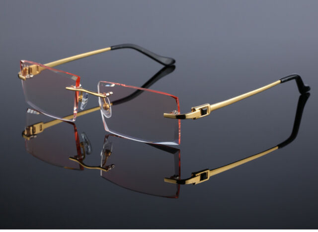 Custom-made Titanium Cutting Lens Eyeglasses Eyewear Frames Glasses ...