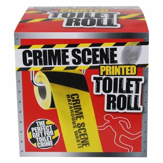 CRIME SCENE TOILET ROLL NOVELTY GIFT BATHROOM LOO PAPER JOKE FUNNY PARTY POLICE