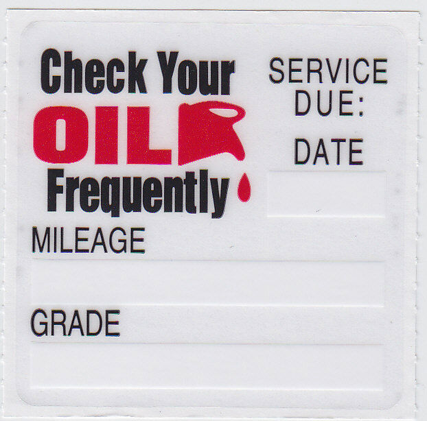 40 oil change reminder stickers decals clear static cling fast ebay