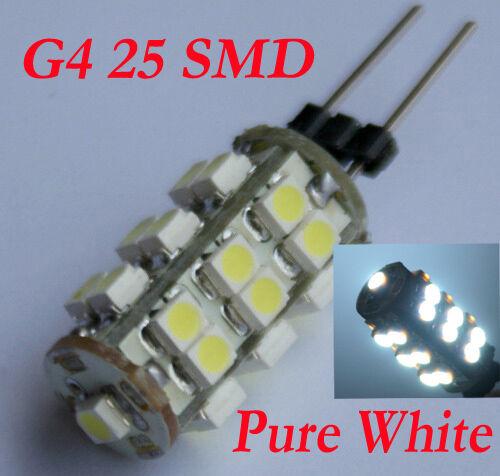 25 SMD LED G4 Strahler Lampe Birne LEDs Kalt weiss 12V DC