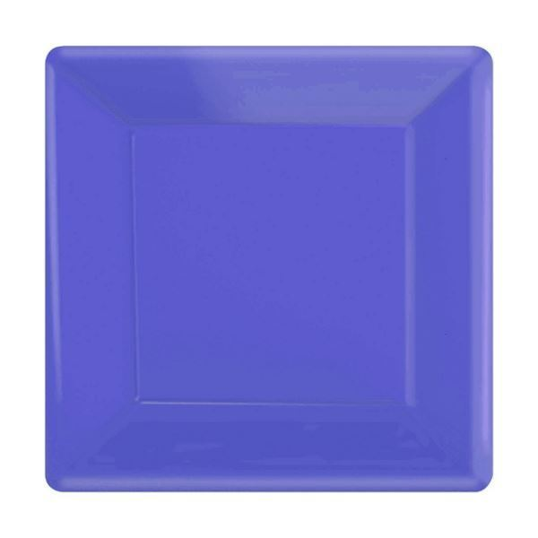 Picture 1 of 1  sc 1 st  eBay & Purple Paper Square Plates 25cm Pack of 20 | eBay