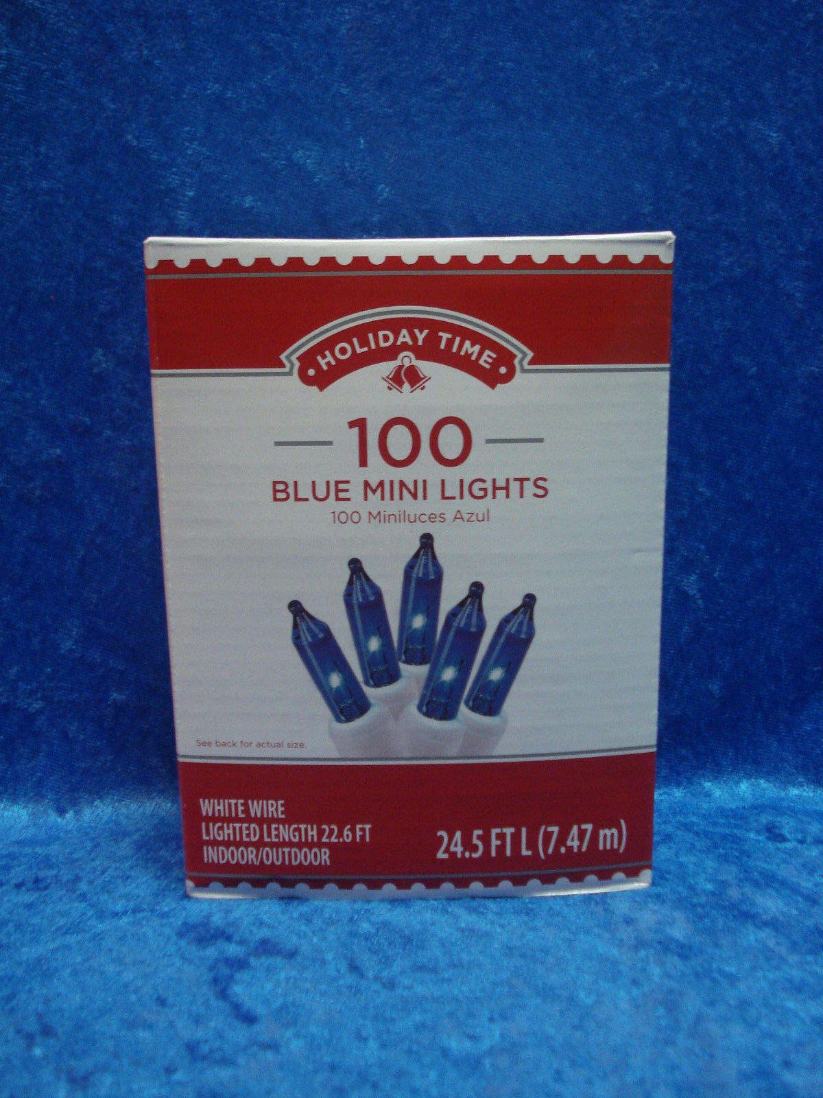 Boxes Holiday Time 100 Blue Mini Lights White Wire Christmas | eBay