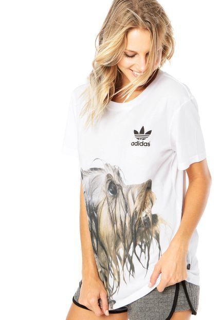 Camiseta adidas adidas Originals Rita Ora estampado con blanca con estampado de perrito Talla ID AJ7285 60e47e3 - allpoints.host