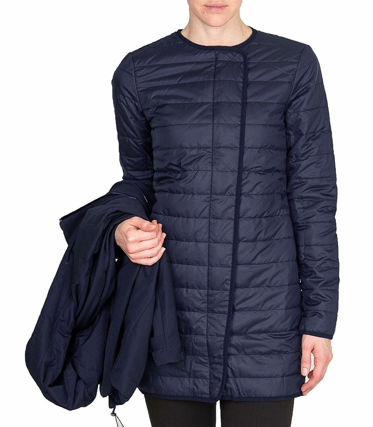 Nike Womens 3 in 1 Short Navy Parka Jacket Coat 683932 410 Size XL ...